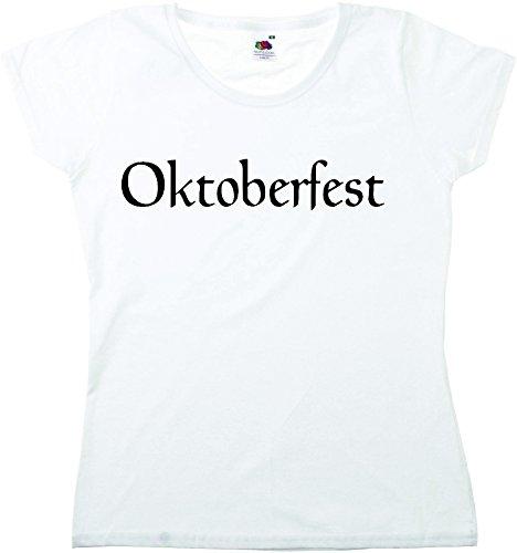 T-Shirt Oktoberfest Wiesn München Junggesellenabschied für Frauen Männer und Kinder in allen Größen XS bis 4XL oder Kinder 104 bis 164 Motiv Nr.36 Damen-Weiß