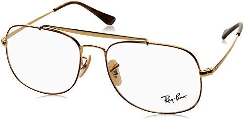 Ray-Ban Herren 0RX 6389 2945 55 Brillengestelle, (Gold On Topo Havana)