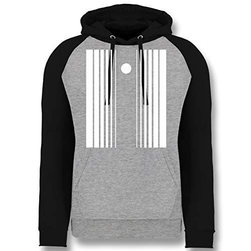 Shirtracer Karneval & Fasching - Doppler-Effekt - XXL - Grau meliert/Schwarz - JH009 - Baseball Hoodie (Herren Sheldon Doppler Effekt Kostüm)
