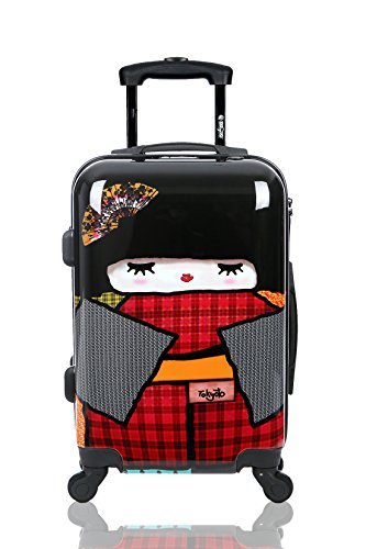 Maleta de cabina Equipaje de mano 55x40x20 Maleta juvenil trolley de viaje Ryanair Easyjet Maleta de viaje Rígida JAPAN DOLL (Preparada para Carga Móviles) TOKYOTO LUGGAGE (SOLO MALETA)