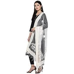 Dupatta Bazaar Womens Dupatta (DB1129_Off White_Free Size)