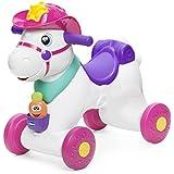 Chicco Miss Baby Rodeo- Balancín, correpasillos y centro de actividades electrónicas, color rosa