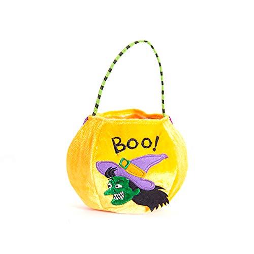 Newin Star Halloween Non-Woven Taschen Süßes oder Saures Geschenktüten Party Goodie Tragetaschen Treat Tasche mit Griffen Party Favors, Witvh