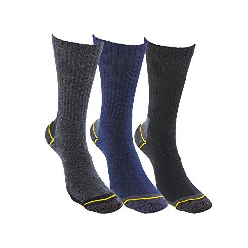 Calcetines de TRABAJO SIN COSTURAS (3 pares) para todo el año  con talón y puntera reforzados  ideal para el uso con botas de trabajo o calzado de seguridad. También son idóneos para deportes de invierno (esquí  running  snowboarding  senderismo  pesca …)  o situaciones de frío y humedad.