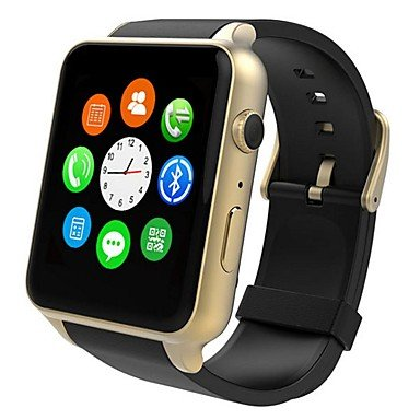 SUNNY KEY-Smartwatches@General SIM-Karte Bluetooth 4.0 iOS Android iPhone Freisprechanlage Media Control Nachrichtensteuerung Kamera Kontrolle 128MB Audio , gold