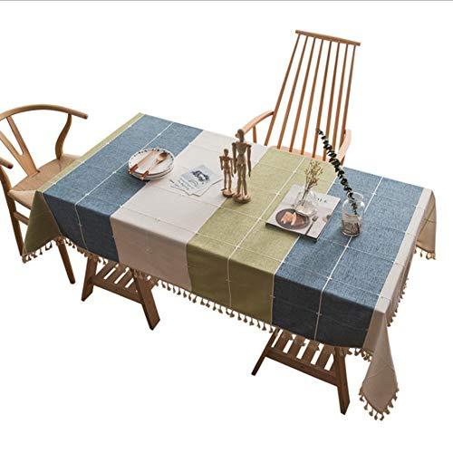 (SJZC Tischdecke Tuch Rechteckig Cover Handtuch FüR Restaurant Tisch Couchtisch Schreibtisch,140 * 220cm)