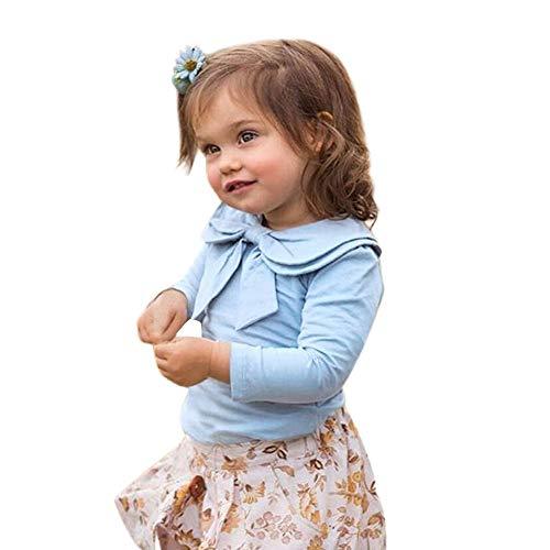 JiaMeng Kleinkind Baby Mädchen Langarm Peter Pan Kragen -
