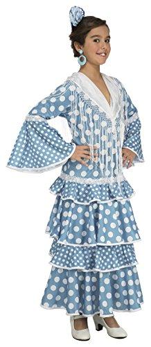 Imagen de my other me  disfraz de flamenca huelva para niña, 5 6 años, color turquesa viving costumes 202948