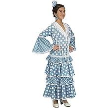 My Other Me Disfraz de flamenca Huelva para niña, color turquesa, 5-6