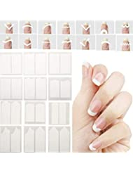 CINEEN Nail Stickers French manucure Tips Smile Feuilles Autocollants Nail Art Line Guide Stickers Stickers Ongle 24 pcs/lot