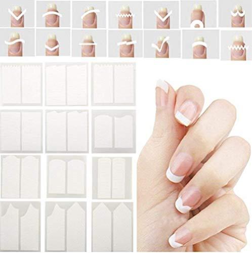 CINEEN French manicure di adesivi per unghie punte Smile Line guide adesivi nail art Line guide stickers tips makeup 24 pz/set