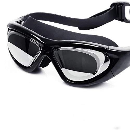 Neue wasserdichte Antibeschlagschutzbrille mit großem Silikondesignspiegel - schwarz