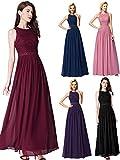 Ever-Pretty Vestido de Fiesta Noche Largo para Mujer Vestido de Fiesta Boda Ceremonia Borgoña 48
