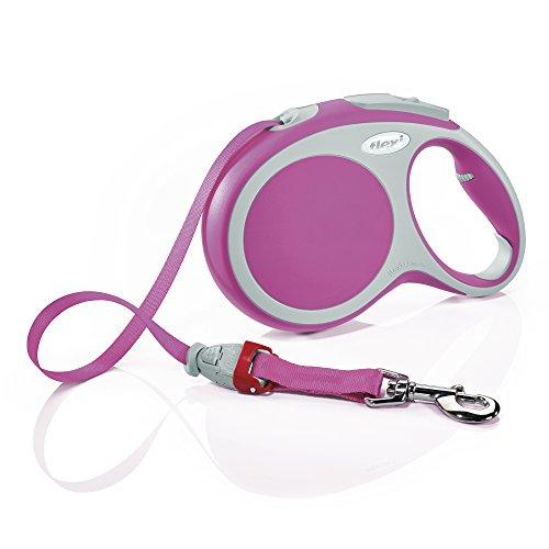 flexi Roll-Leine Vario L Gurt 8 m pink für Hunde bis max. 50 kg