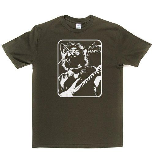 Jerry Garcia American Musician Grateful Dead T-shirt Militärgrün