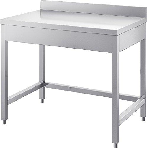 GAM Gastro Edelstahl Arbeitstisch Tisch 170 cm breit mit Abschlusskante ***NEU***