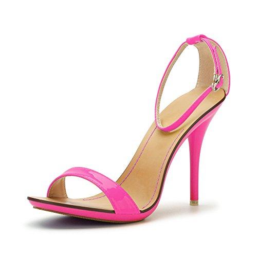 Neon 40 EU OCHENTA Sandali stiletto estivi con cinturino alla caviglia nv9