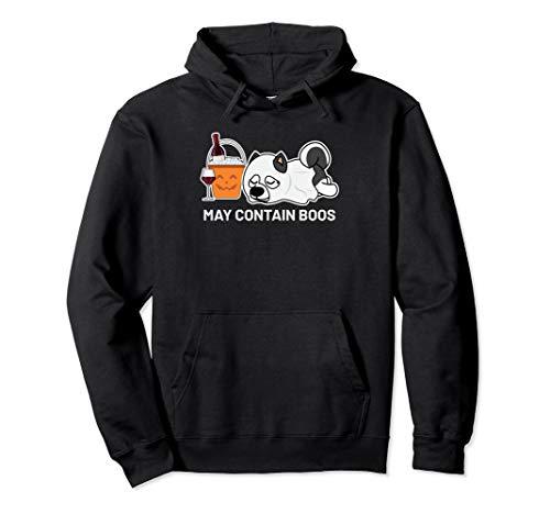 Husky Siberian Kostüm - Halloween Siberian Husky In Geist Kostüm Wein Trinker Pullover Hoodie