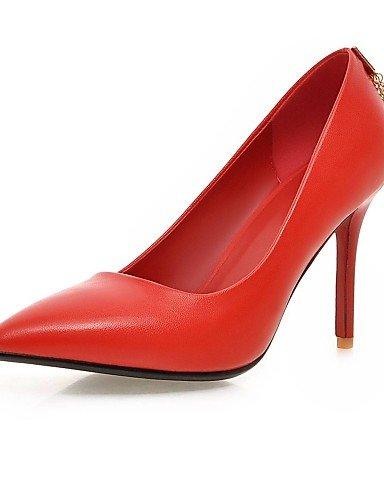 GS~LY Da donna-Tacchi-Ufficio e lavoro / Casual-Tacchi / A punta-A stiletto-PU (Poliuretano)-Nero / Rosso red-us5 / eu35 / uk3 / cn34