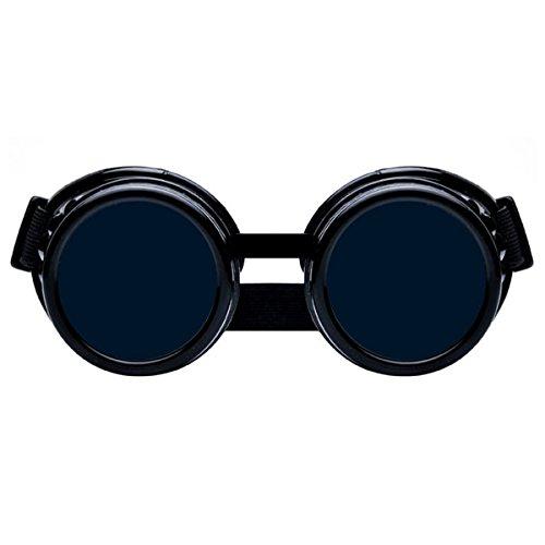 Dreamworldeu Steampunk Antique Copper Cyber Spikes Brille Goggles Retro Goth Vintage Welding Punk Cosplay Brille Augenlinse Sonnenbrillen
