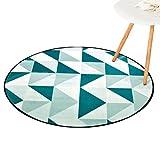 CHENGYANG Wohnzimmer Bereich Teppiche Runde Geometrisches Muster Teppiche Rutschfeste Teetisch Computer Stuhl Matten (Stil#6, 120*120cm)