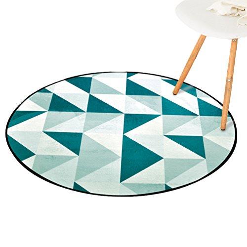 CHENGYANG Wohnzimmer Bereich Teppiche Runde Geometrisches Muster Teppiche Rutschfeste Teetisch Computer Stuhl Matten (Stil#6, 120*120cm) (Geometrischen Teppich Bereich)
