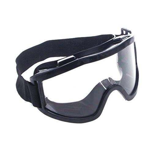 CADANIA Schutzbrille Ski Snowboard Motorrad Brillen Brillen Augenschutz Arbeitslabor Schwarz