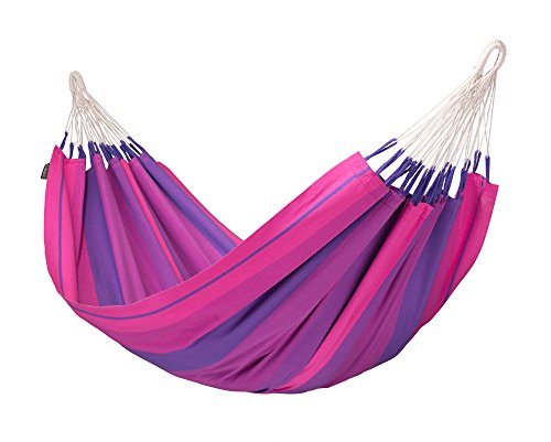 LA SIESTA - Orquídea Purple - Klassische Einzel-Hängematte aus Baumwolle