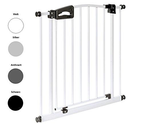 tzgitter Luxline passend für 73cm - 212cm | Höhe 77cm | ohne Bohren | Türschutzgitter 4 Farben | einfache Montage | Tür-Gitter | Treppen-Gitter Baby Kleinkind Hund ()
