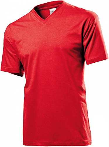 Classic V-Neck Scarlet Red