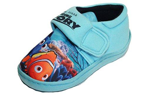 Disney Pixar Findet Dory Charakter Print Hoop und Loop Weiche Hausschuhe Schuhe Blau