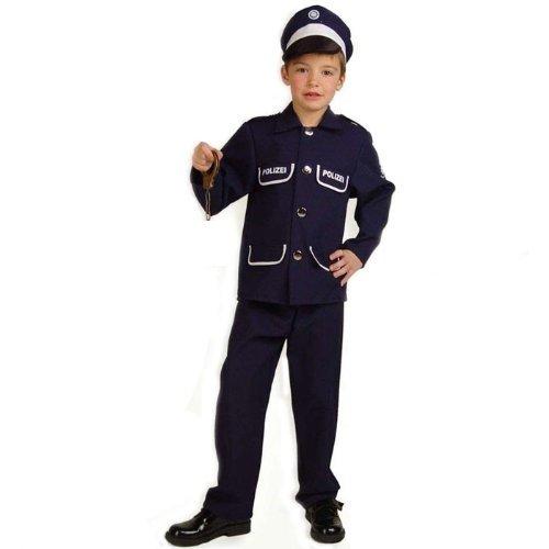 Fries 20404 Polizist Petersen 2-teilig mit Mütze Gr. 104 (Kleinkind Polizei Kostüm)