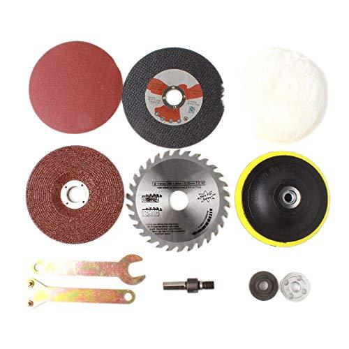 Andifany 8 Teile/Satz Kit Metall Umbau Schaft Holzbearbeitung Zubeh?r Für Funktions Werkzeuge Bohr Maschine ?ndern Winkel Schleifer Schneider