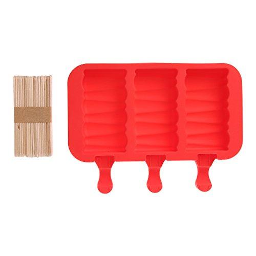 logres 13-cavity Silikon Kawaii Popsicle Form Eis Maker Jelly DIY mit 20Holz Sticks (# 001)