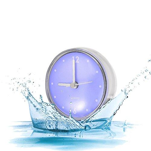 GEMITTO Reloj de Baño con Ventosa Reloj de Pared Impermeable Reloj para Baño Plástico para el Baño de la Cocina B