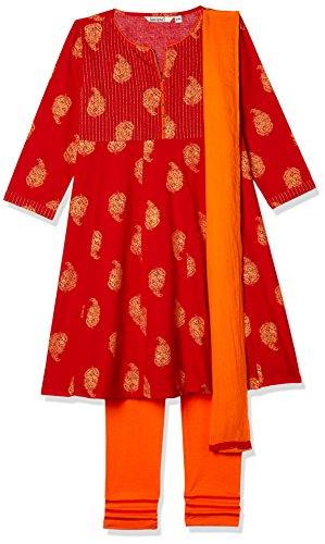Karigari Girls' Straight Regular Fit Salwar Suit (274389471_Assorted_08Y)