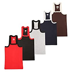 Wyatt Mens Cotton Gym Vest(1016_Multicolor_S)