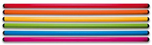 Betzold 754768 - Gymnastik-Stäbe - 70 cm, 6er Set - Turnstangen für den Sport-Unterricht, Parcours