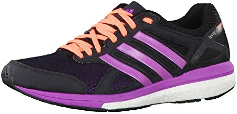 adidas Adizero Tempo 7 Zapatillas de running para mujer, black - orange - purple, 42.66666667