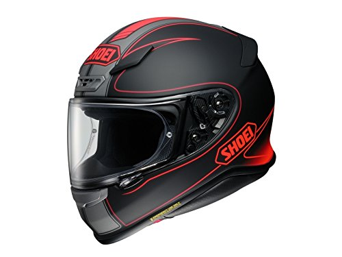 Shoei Red NXR Flagger TC-1 Motorcycle Helmet