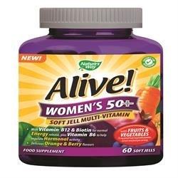 Nature's Way, Alive! Women`s 50+ weich Jells, 60 KauTablettetens - Multivitamin 60 Kautabletten