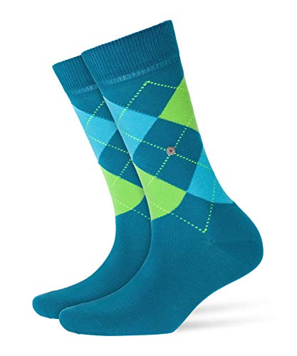 Burlington Damen Queen klassisches Argyle Muster Baumwolle 1 Paar modische Socken, Blickdicht, blau (Peacock Blue 7791), 36/41 (One Size)
