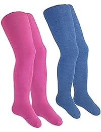 EveryKid Ewers 1er oder 2er Pack Babystrumpfhose Mädchenstrumpfhose Thermostrumpfhose Strumpfhose Markenstrumpfhose einfarbig für Babys (EW-94040-W17-BM1) inkl Fashionguide