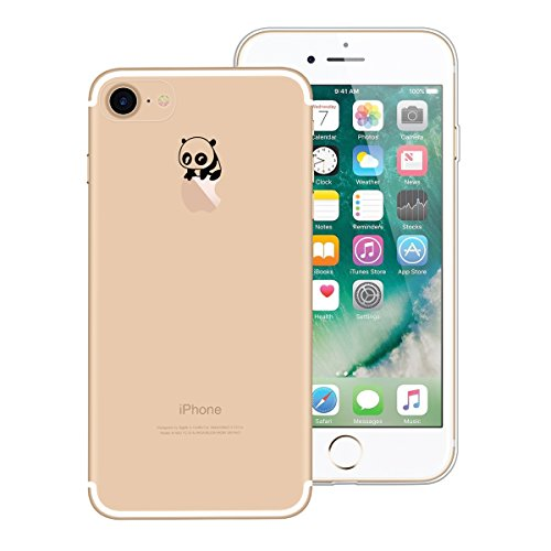 Yokata Cover per Apple iPhone 7 Plus Silicone Clear Trasparenti con Disegni Panda Fantasia Originale Rigida Custodia Ultra Slim Morbida Clear Gel Molle di Flessibile TPU Morbido Case Protezione Backco Panda 5