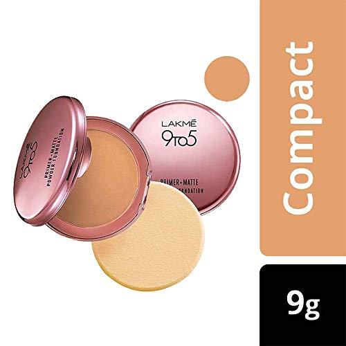 Lakme 9-5 Primer mit Matte Powder Foundation Compact, Natürliches Licht, 9g