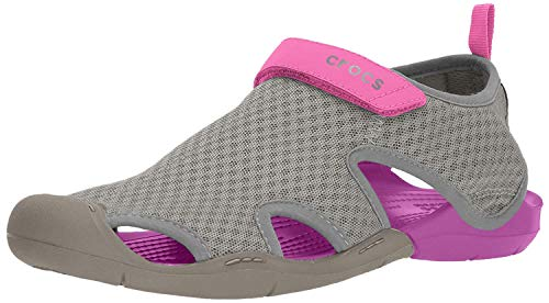 Crocs Swiftwater Mesh Sandals Women, Damen Geschlossene Sandalen, Grau (Smoke), 38-39 EU