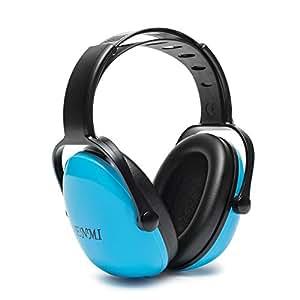Enmi Cuffie Antirumore Bambini Ear Defender Protezione Acustica di Riduzione del Rumore, Ear Muff 3 + mesi, Blu, Comodo per Viaggio Dormire