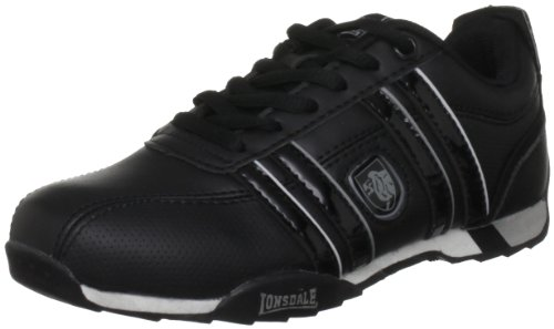 Lonsdale Youth Seneka Black/Grey Fashion Trainer Lba385 5 Uk Youth