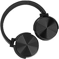 Excelvan Auriculares cerrados Bluetooth con Modo FM, Función de Tarjeta TF, Auriculares Inalámbricos plegables para Smartphone, Tablet, MP3 etc, Color Negro