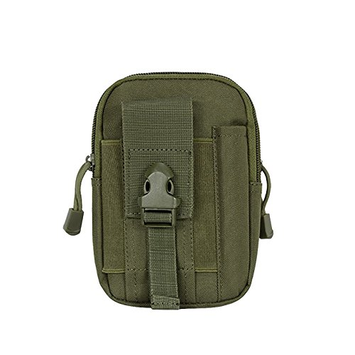 Tracffy Outdoor Tactical First Aid MOLLE EDC Pouch Survival Combat Medical Waist Bag Multi-Purpose Utility Gadget Bag - Army Green